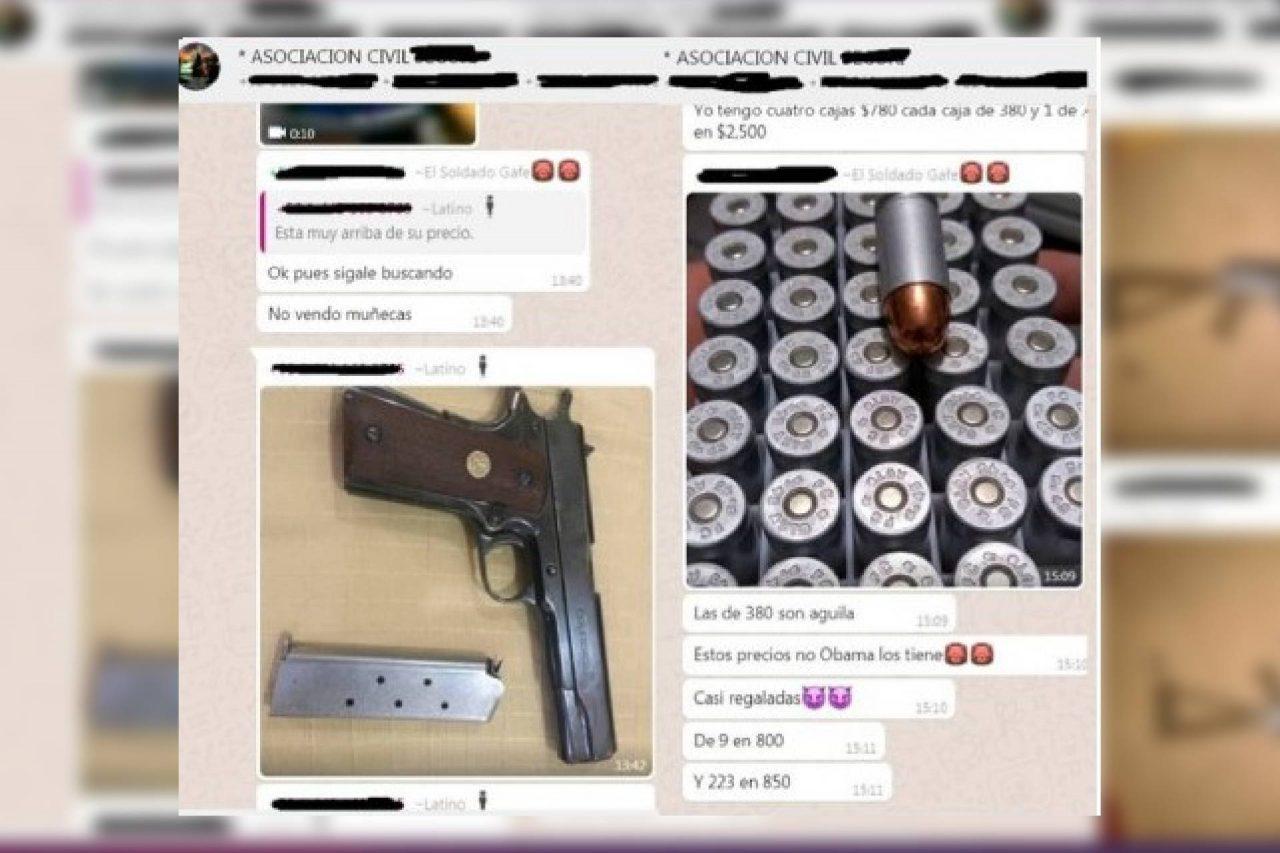 WhatsApp catálogo armas venta